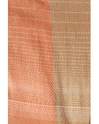 Modena | Natural Jacquard Woven Blanket Scarf | Lyst
