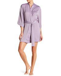 Maidenform Purple Satin Robe