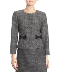 Cece by Cynthia Steffe - Multicolor Bow Trim Tweed Suit Jacket - Lyst