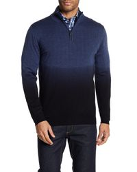 Bugatchi - Blue Dip Dye Wool Sweater for Men - Lyst