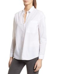 ATM White Cotton Poplin Boyfriend Shirt