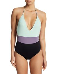Tavik - Multicolor Colorblocked Halter One-piece Swimsuit - Lyst