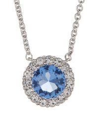 Nadri - Multicolor Crystal Framed Round Pendant Necklace - Lyst