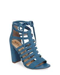 Sam Edelman Blue Yarina Heeled Sandal