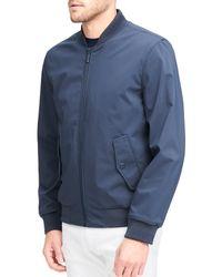 Andrew Marc - Blue Flap Pocket Franklin Bomber Jacket for Men - Lyst