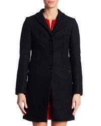 Love Moschino Black Wool Blend Coat