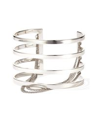 Jenny Bird - Metallic Series Cutout & Chain Detail Cuff - Lyst