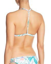 Rip Curl Blue Tropic Tribe Triangle Bikini Top