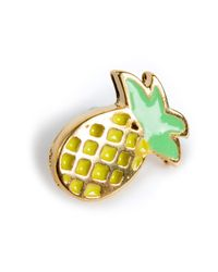 Dogeared - Metallic Pineapplicious Pin - Lyst