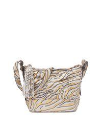 Aimee Kestenberg Metallic Scene Stealer Bucket Bag