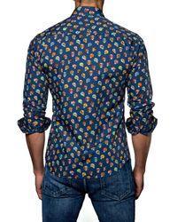 Jared Lang - Blue Trim Fit Sport Shirt for Men - Lyst