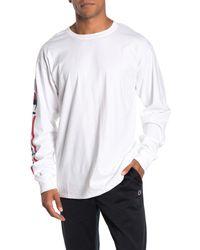 Champion White Classic Logo Long Sleeve T-shirt for men