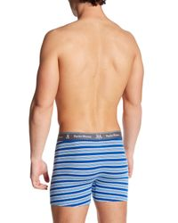 Psycho Bunny   Blue Knit Boxer Brief for Men   Lyst