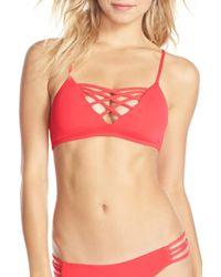 L*Space | Multicolor 'jaime' Crisscross Bikini Top | Lyst