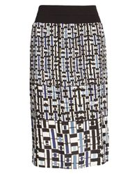 NIC+ZOE - Black Mixed Check Skirt - Lyst