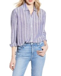 Rails Blue Sydney Stripe Shirt