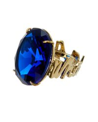 Kate Spade - Blue What A Gem Oval Shaped Ring - Size 7 - Lyst