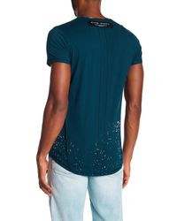 Religion Blue Force Embroidered Tee for men