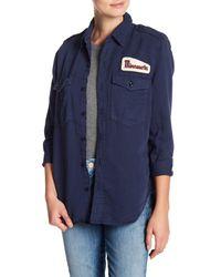 Mother Blue Cadet Work Shirt