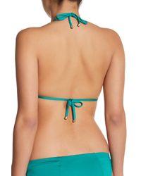 Vitamin A - Green Gia Triangle Bikini Top - Lyst