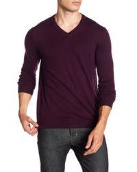 Ted Baker Purple V-neck Sweater for men