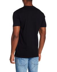 Riot Society Black Shark Fin Embroidery Tee for men