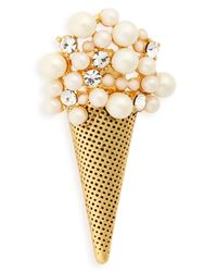 Marc Jacobs - Metallic Ice Cream Brooch - Lyst