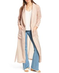 Trouvé - Pink Trouv? Belted Duster Jacket - Lyst