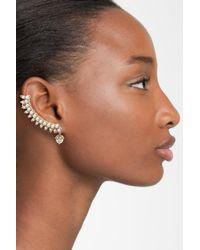 Marchesa - Metallic Ear Crawler & Stud - Lyst