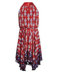 Maggy London - Red Ikat Print Fit & Flare Dress - Lyst