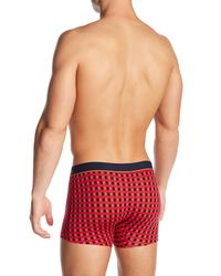Unsimply Stitched - Red Box Plaid Print Boxer Briefs for Men - Lyst
