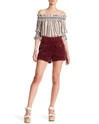 Moon River - Red Corduroy Short - Lyst