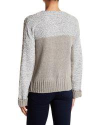 John + Jenn   Gray Mixed Yarn Crew Neck Sweater   Lyst
