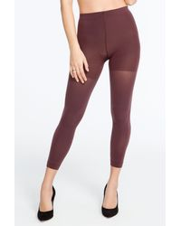 Spanx - Brown Luxe Leg Mid-thigh Shaping Footless Tights - Lyst