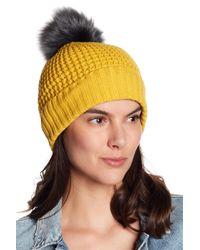 NORLA HATS Multicolor Homeward Faux Fur Pompom Beanie