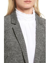Vince Camuto - Multicolor Herringbone Jacquard Open Front Jacket - Lyst