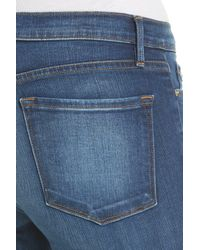 FRAME Blue Le Skinny De Jeanne Triangle Hem Jeans