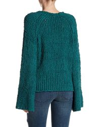 Free People Green Sand Dune Knit Pullover