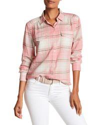 Tommy Bahama Pink Conga Plaid Camp Shirt