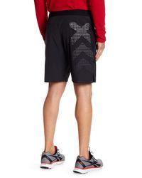 Reebok Black Contrast Back Print Shorts for men