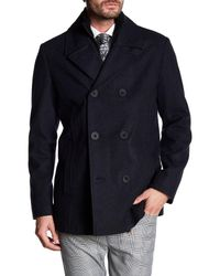 Kenneth Cole | Blue Ribbed Liner Peacoat for Men | Lyst