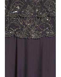 Pisarro Nights Multicolor Beaded Tiered Popover Gown (regular & Petite)