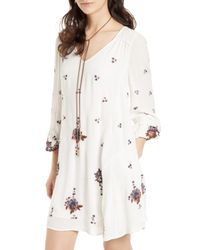 Free People Multicolor Embroidered Minidress