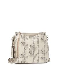 Vince Camuto Natural Mayln Leather Crossbody Bag