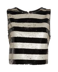 Eliza J - Multicolor Sequin Stripe Top - Lyst