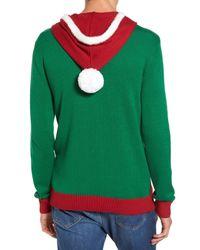 The Rail - Green Santa Hoodie Sweater for Men - Lyst