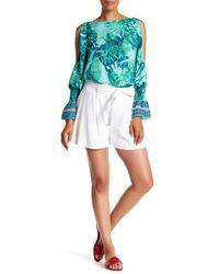 Laundry by Shelli Segal - Multicolor Tie Waist Linen Blend Shorts - Lyst