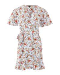 TOPSHOP - Blue Confetti Tea Dress - Lyst