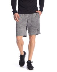 Reebok Gray Speedwick Athletic Shorts for men