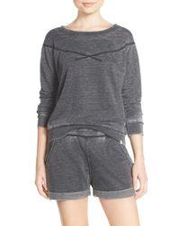 Honeydew Intimates - Black Undrest Raglan Sweatshirt - Lyst